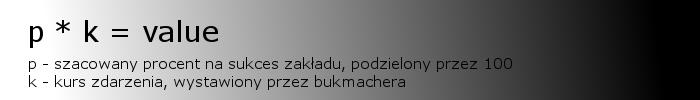 Valuebet - wzór