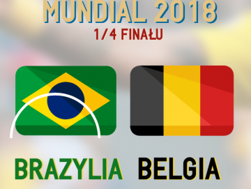 MŚ 2018. Brazylia - Belgia [INFOGRAFIKA]