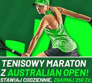Australian Open - Nawet 250 PLN w bonusie od Totalbet
